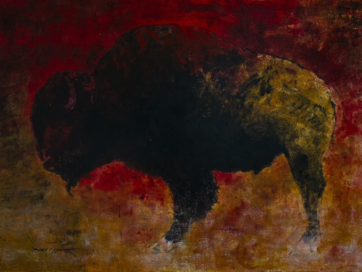 Buffalo, 36 x 48, acrylic on panel. Available through artist.