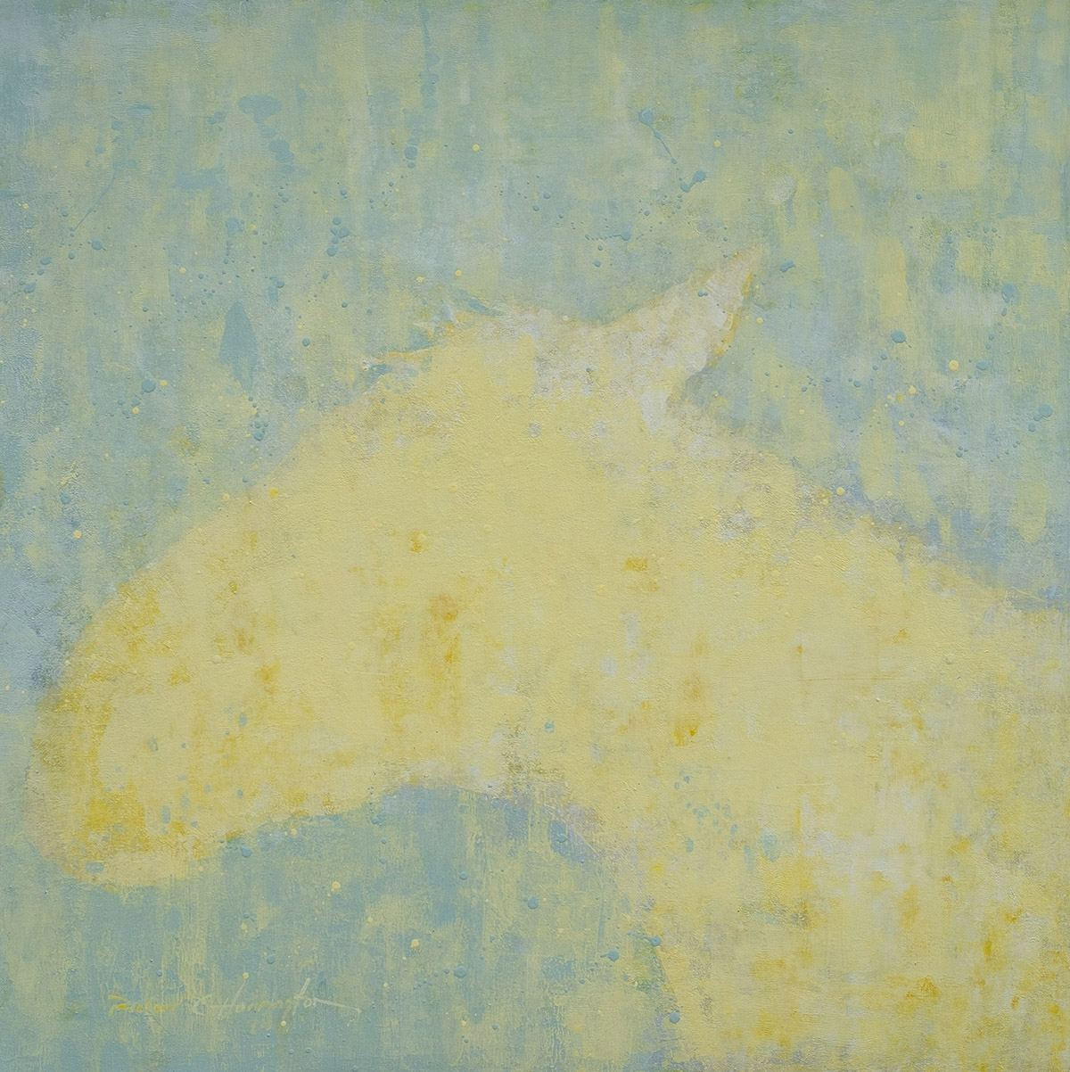 Yellow, 30 x 30, acrylic on panel. Available through artist.