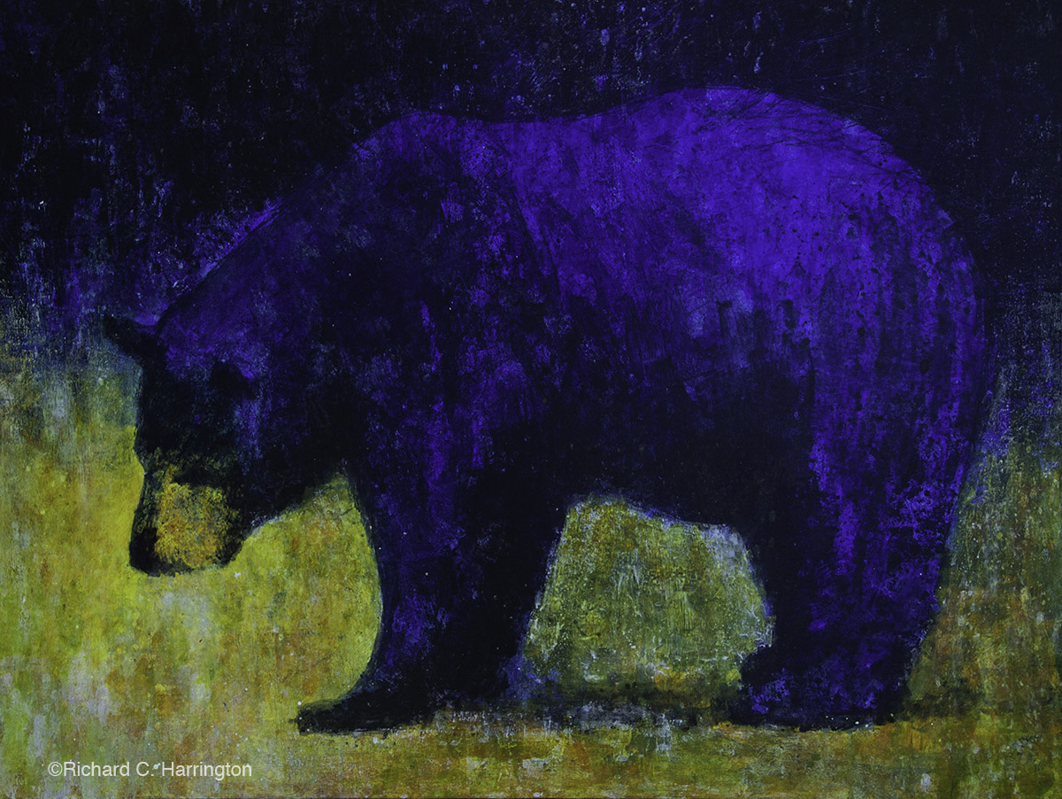 Blue Bear, 48 x 66. acrylic on panel. Available through artist.