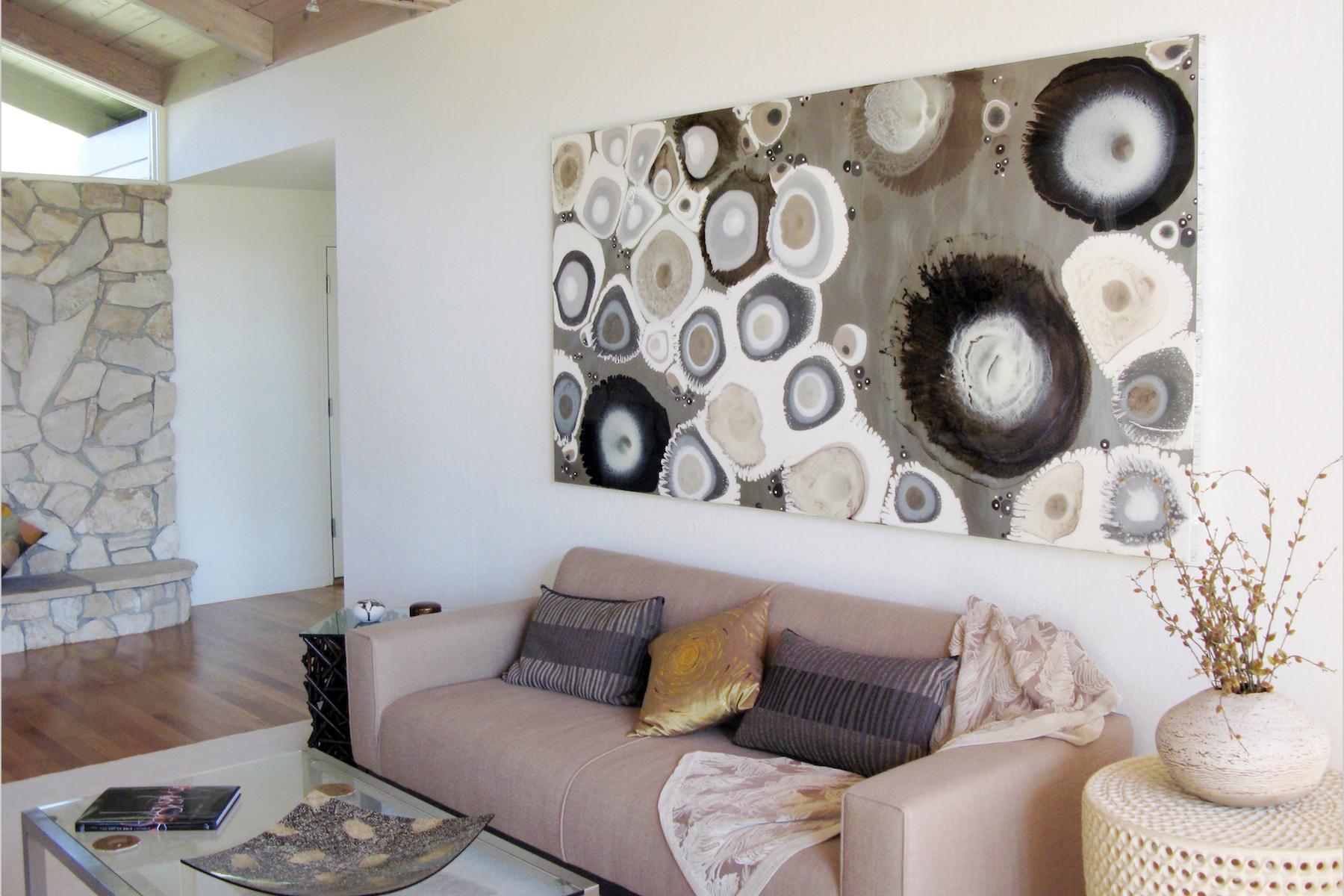 Residential installation.  Painting by Klari Reis.