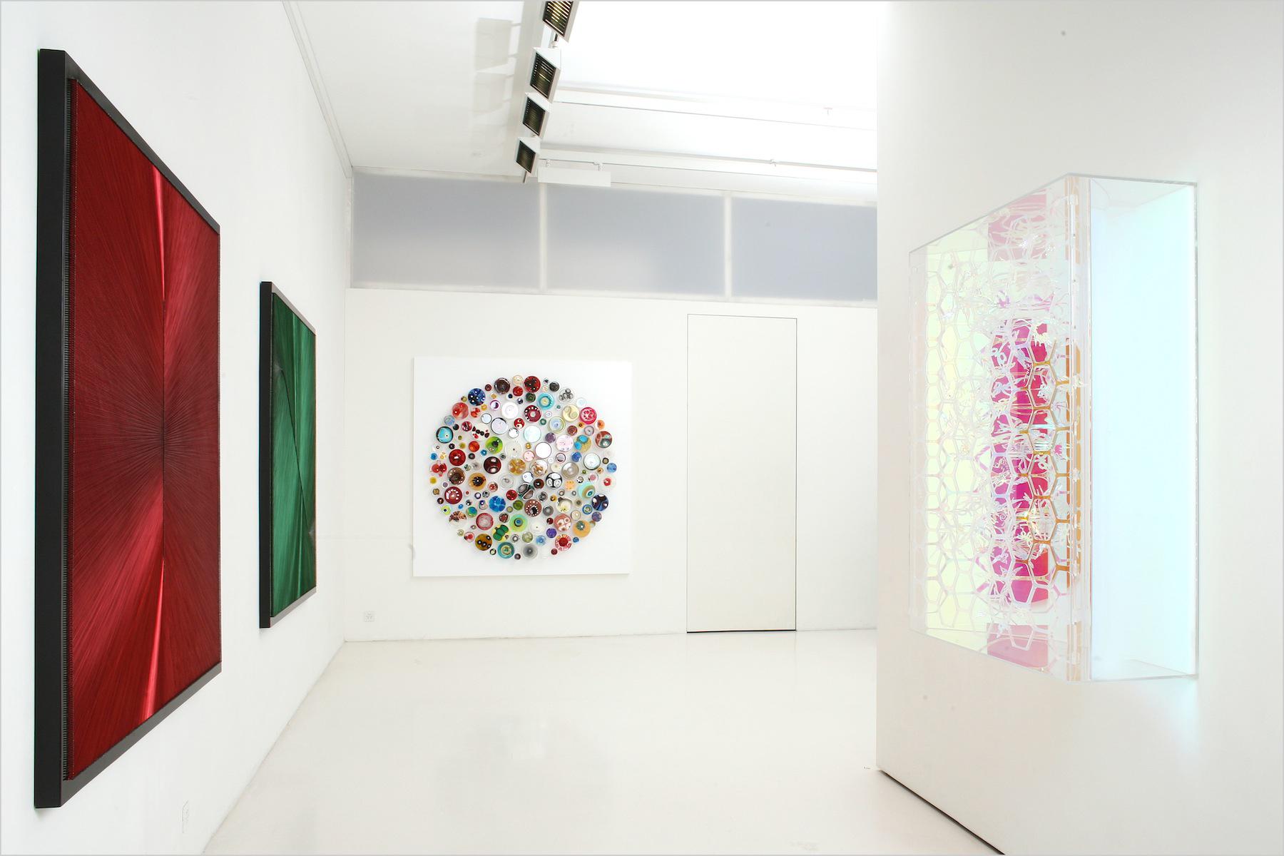 Artwork by Klari Reis.  Gallery exhibition in Switzerland.