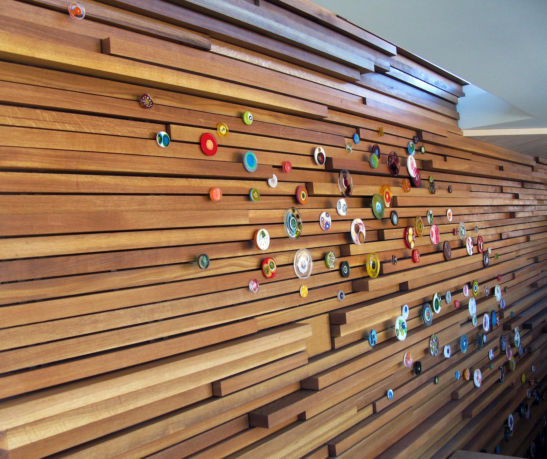 Artwork by Klari Reis.  Petri dish painting residential installation.