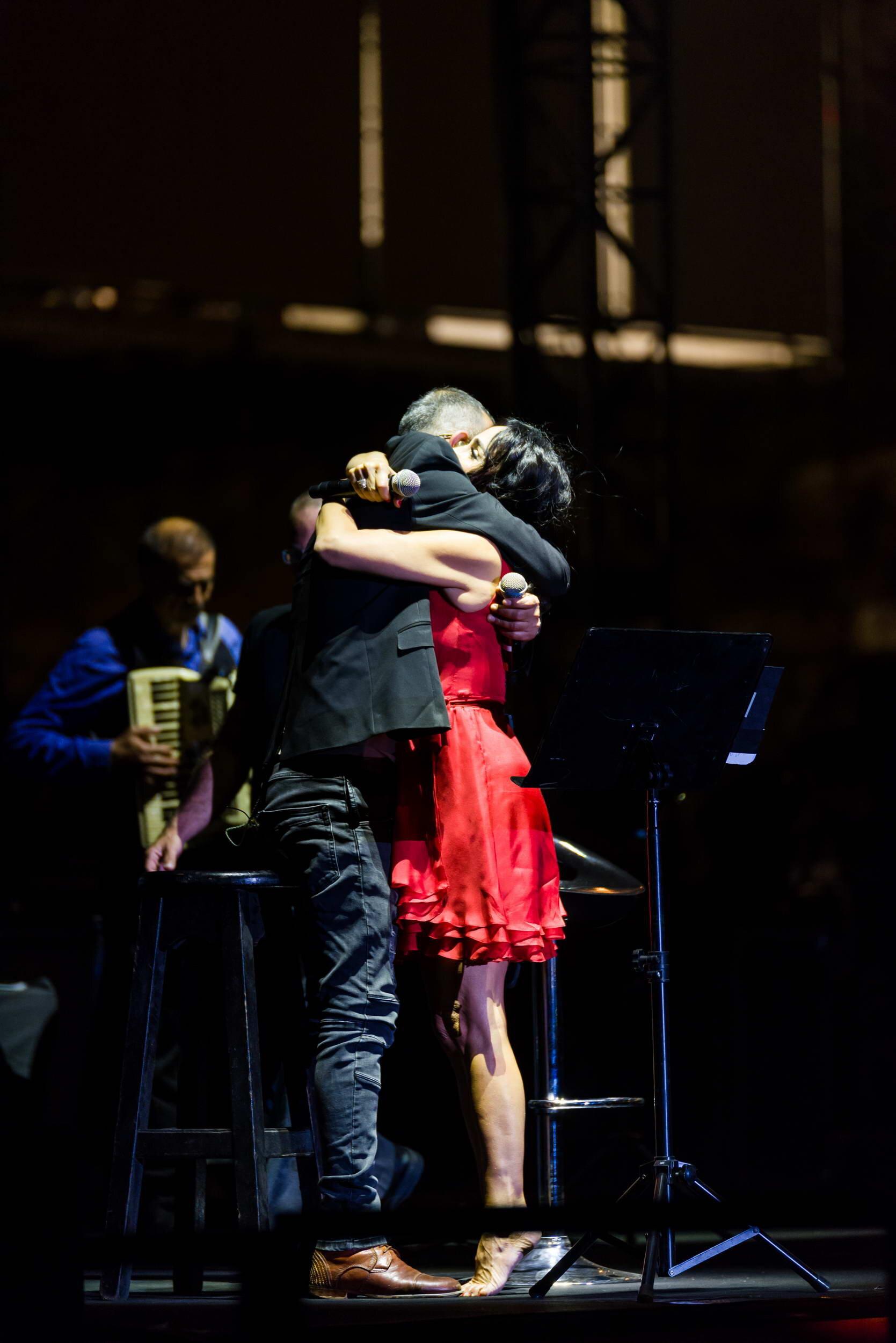 ריטה ושמעון בוסקילה בהופעה חיה