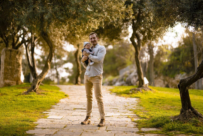אבא ובן בפארק בירושלים