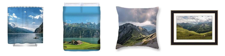 הדמיה של מוצרים לדוגמא מהחנות שלי ב fineartamerica.com