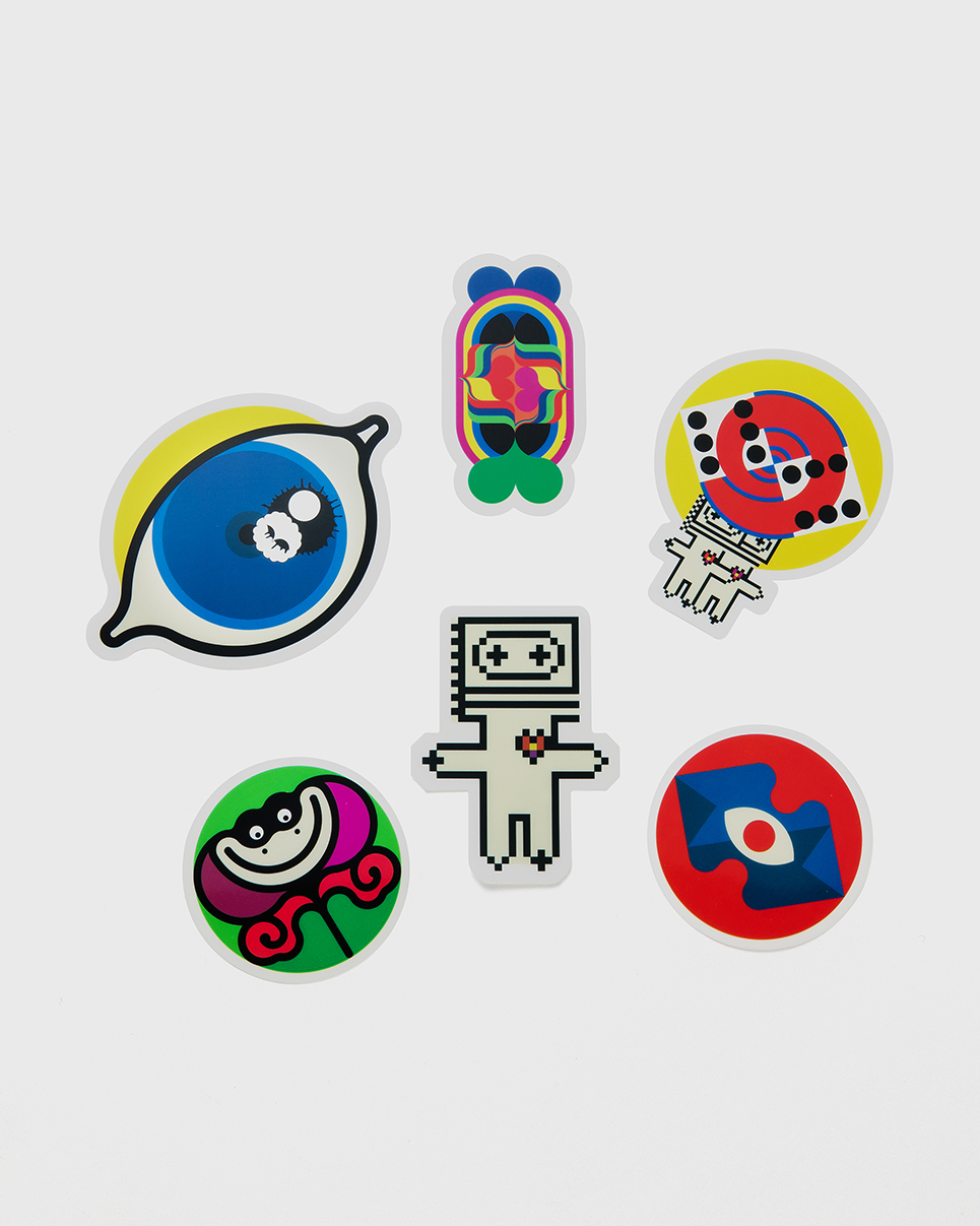 DECO STICKER - There are 12 different kinds of deco stickers, separately packed in 2 packages.