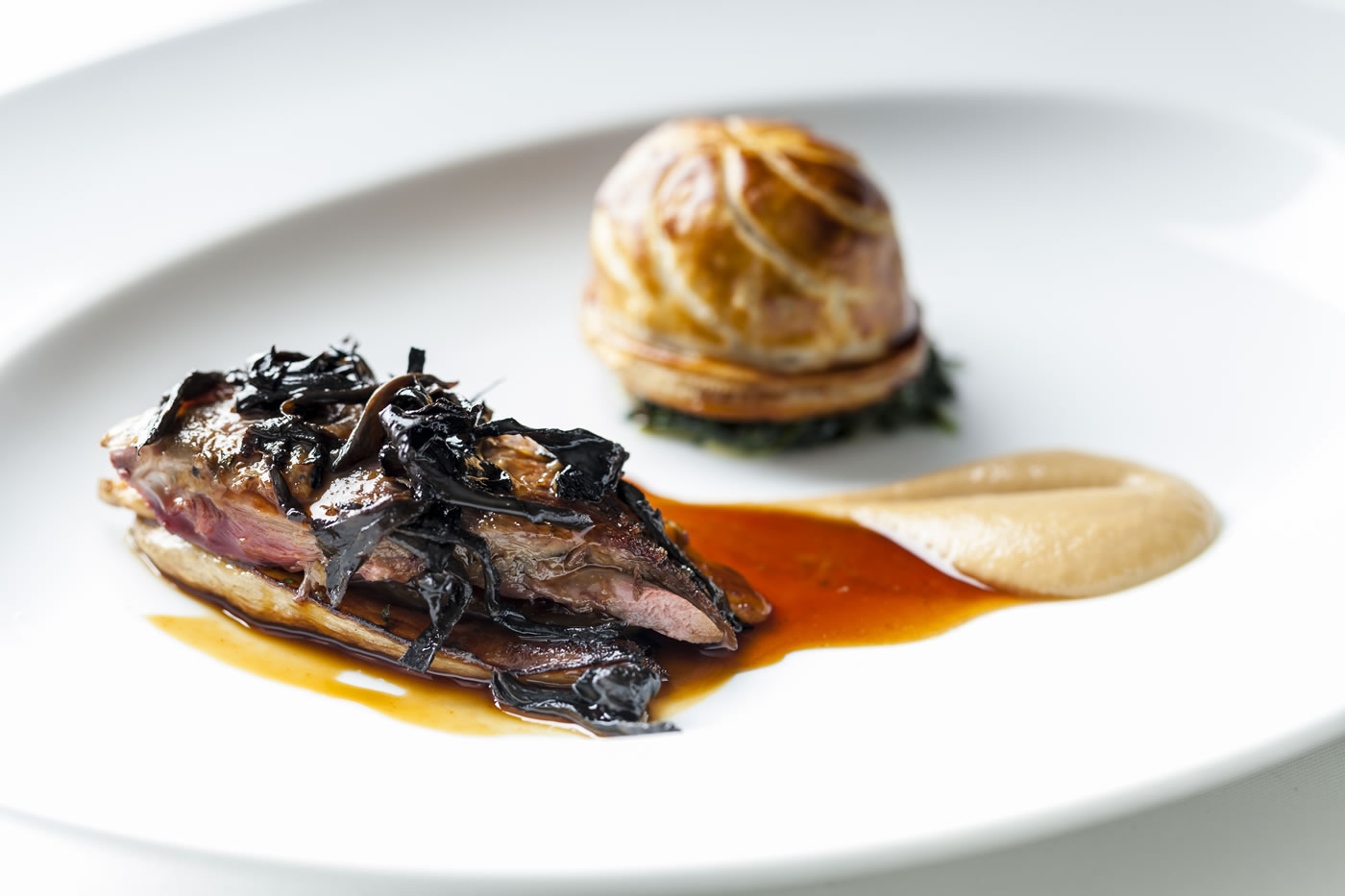 duck confit in pastry