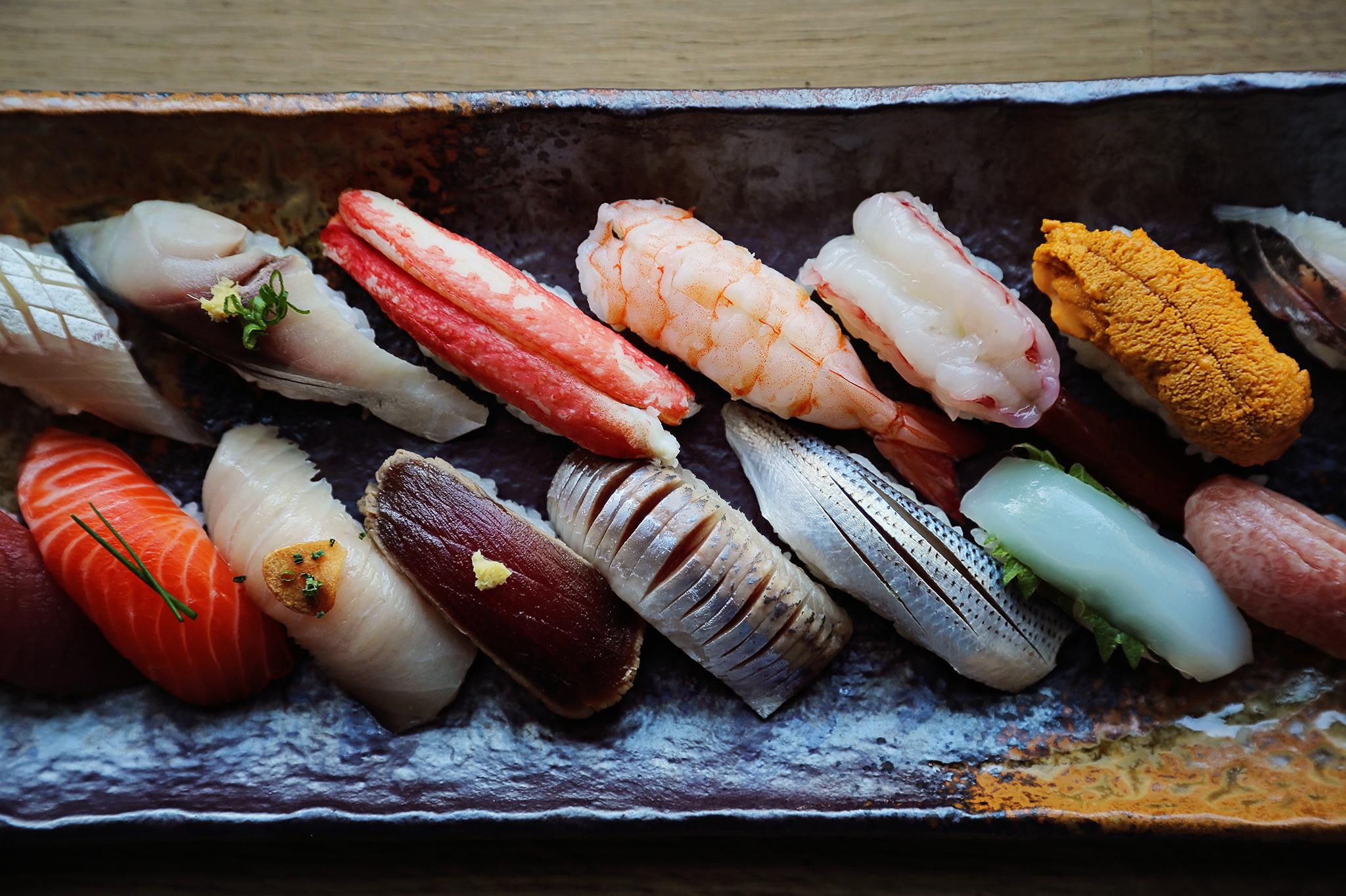 sushi o-nigiri platter