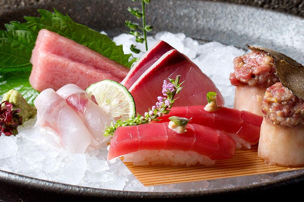 sashimi on ice