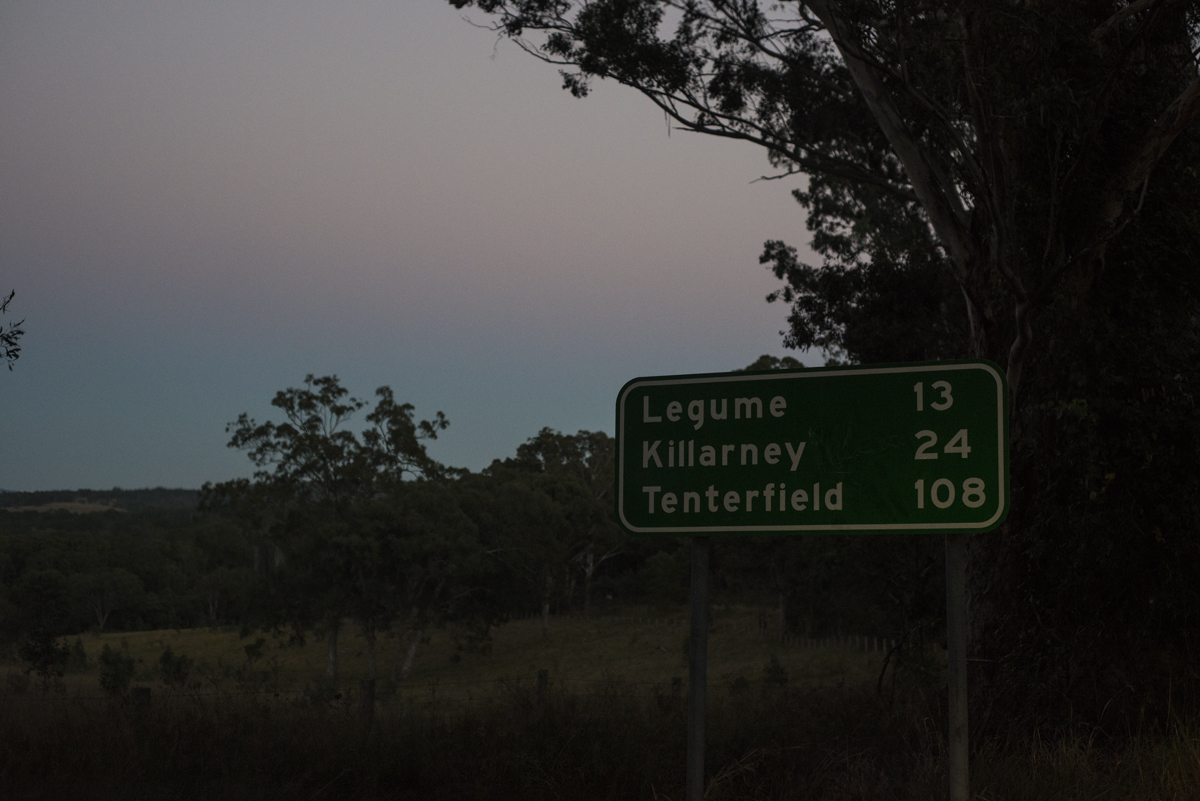 Road signs at the break of dawn