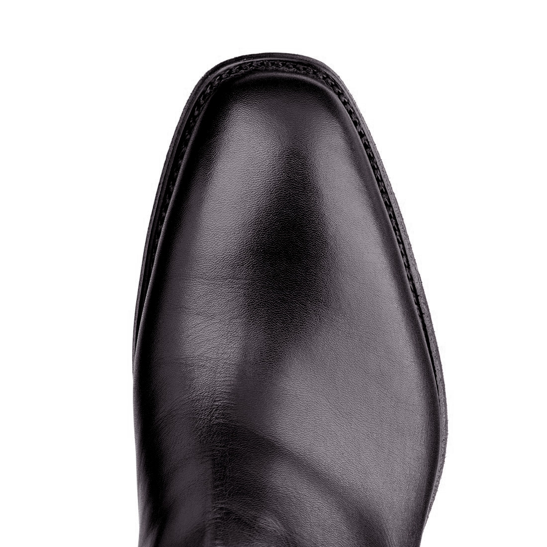 Black RM WIlliams fully retouched boot top view