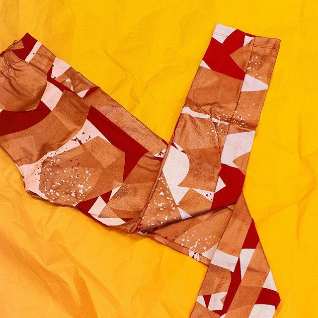 Leggings day. #winterishere • Blockblockies leggings are now on sale for $68 ___ was $90 • #monologAU #handmade#screenprinting #handscreenprinting #textile#madeinmelbourne #slowfashion#sustainablefashion #beatmondayblues #textiledesign#melbourne #abbotsfordconvent #sale #leggings
