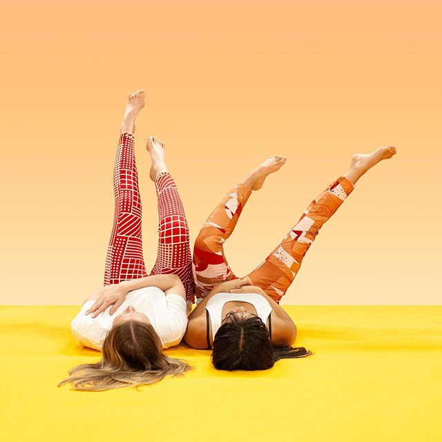 Weekend feels like ... throwing your legs up in the air.🤪 • Checkcheckered leggings are now on sale for $65 or $60 (imperfect ones) ___ was $90. • Blockblockies leggings are now on sale for $68 ___ was $90 • #monologAU #handmade #screenprinting #handscreenprinting #textile #madeinmelbourne #slowfashion #sustainablefashion #textiledesign #melbourne #abbotsfordconvent #sale #leggings #weekend
