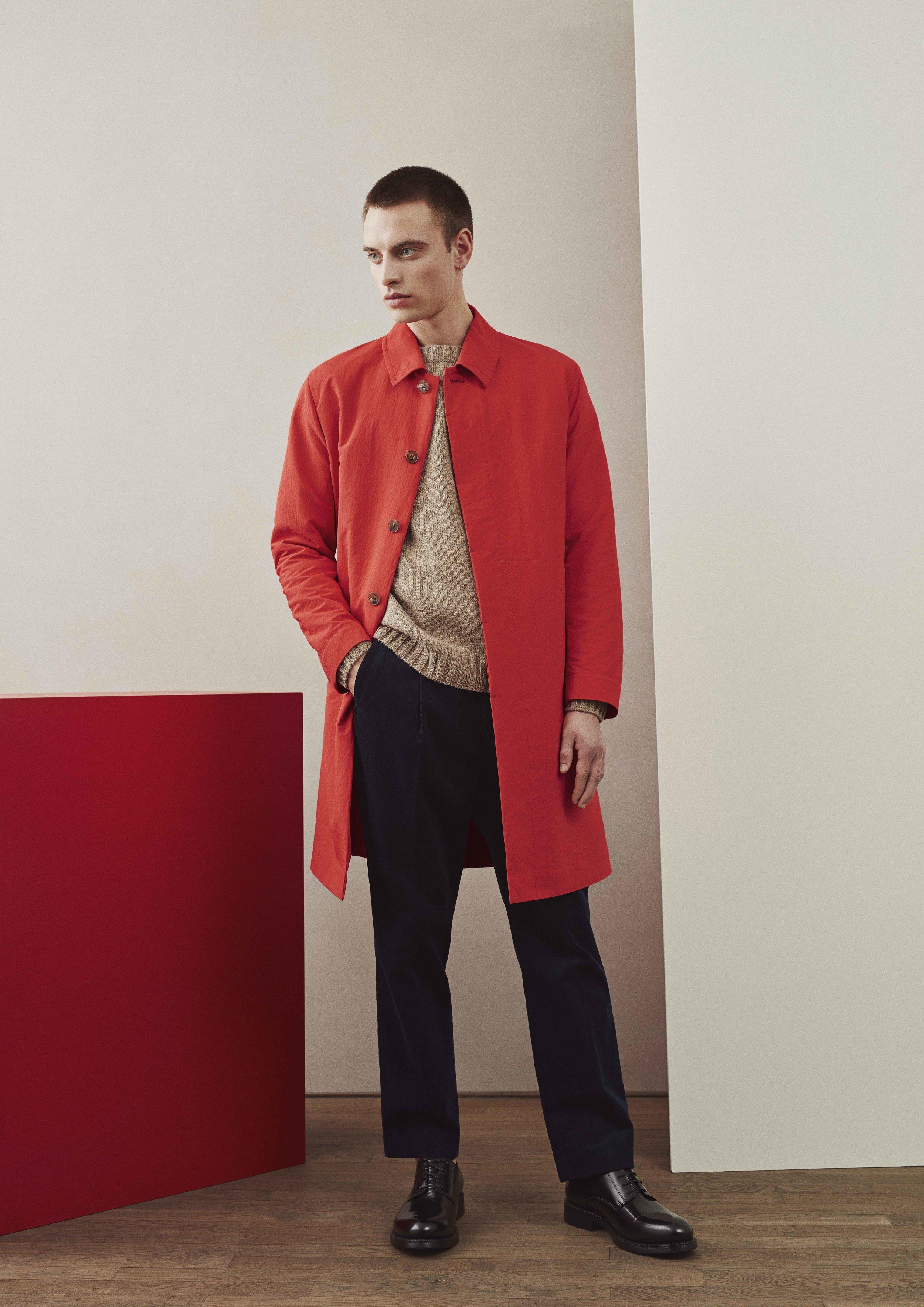 <b>4</b><br>Lukas Nylon Coat<br>Nias Shetland Wool Sweater<br>Theo Corduroy Pants