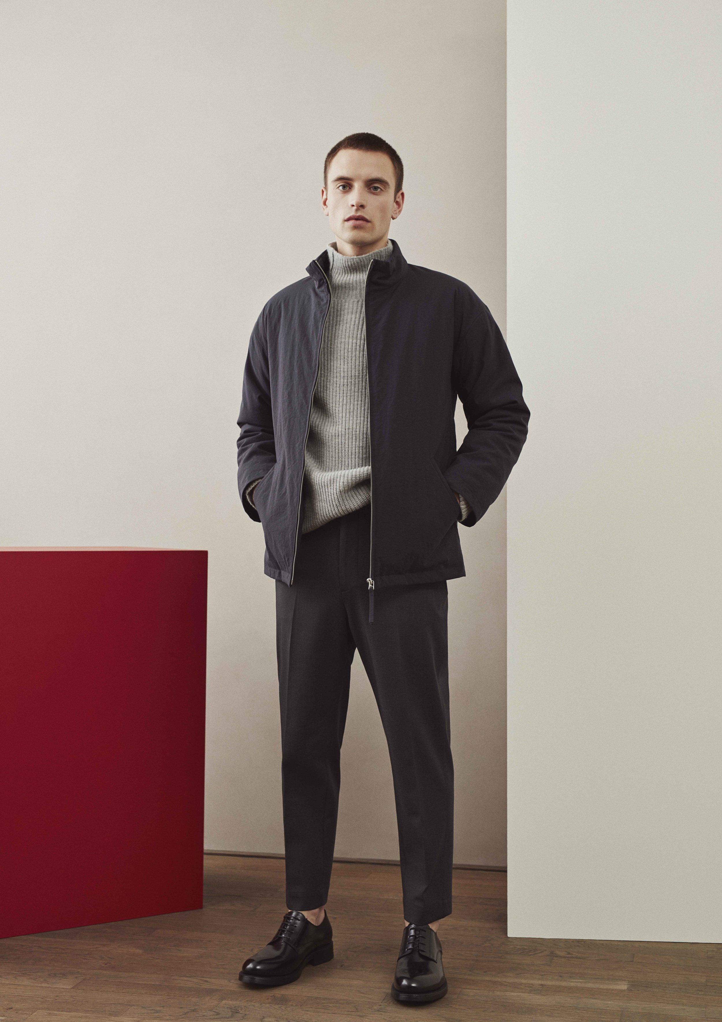<b>1</b><br>Anker Nylon Jacket<br>Olle Alpaca Wool Sweater<br>Albert Cotton Pants
