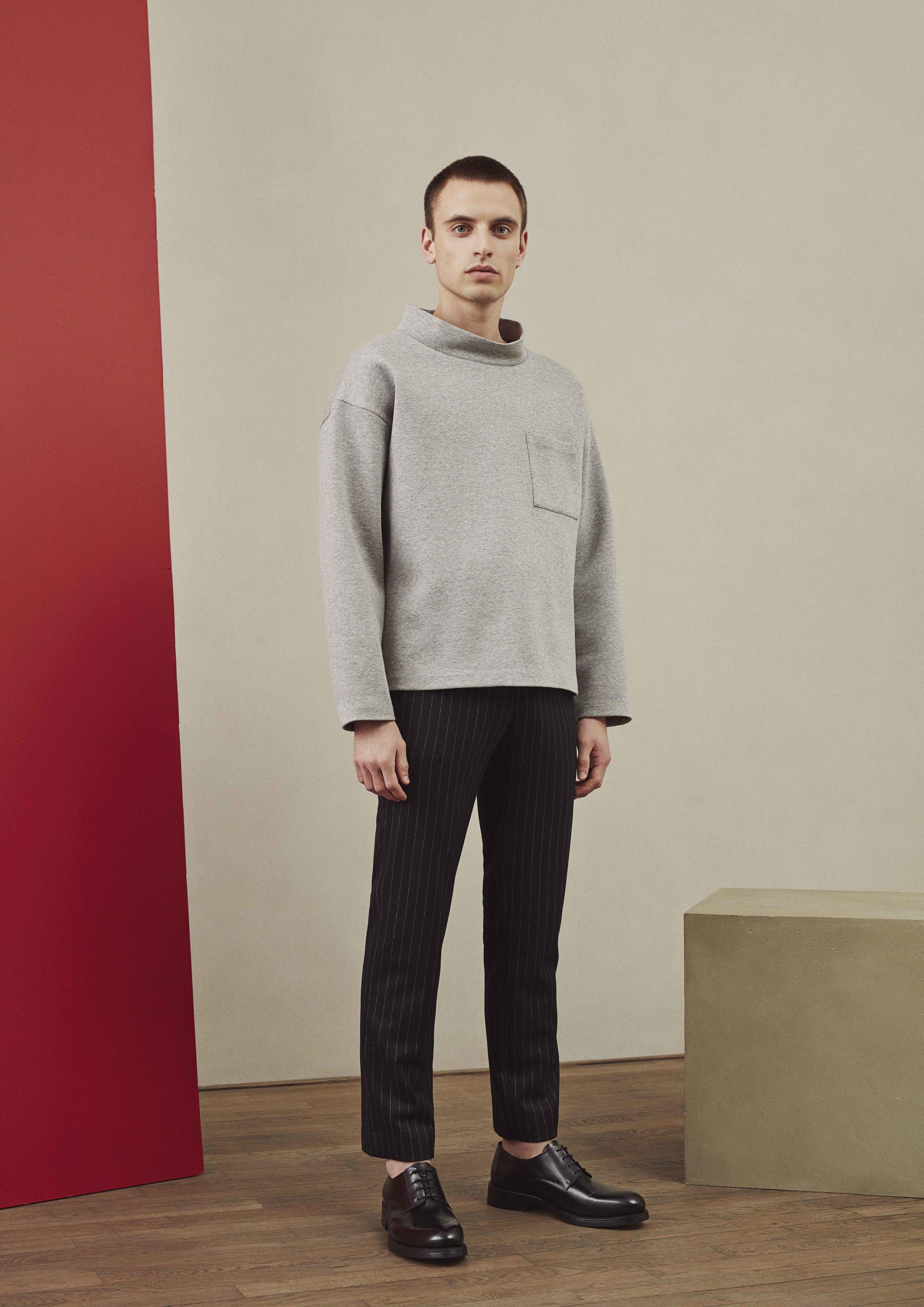 <b>2</b><br>Joachim Compact Jersey Top<br>Simon Pinstriped Wool Pants