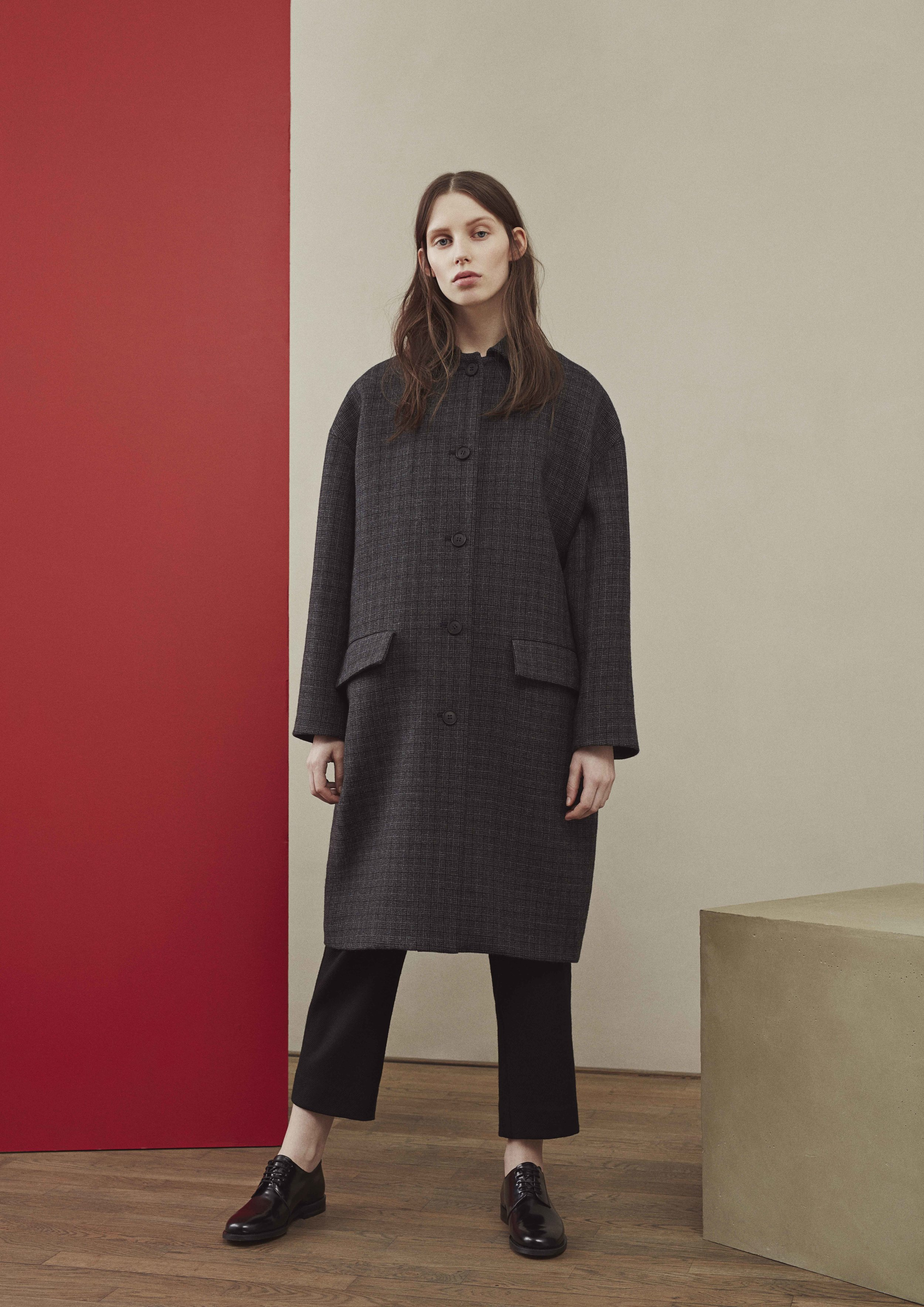 <b>1</b><br>Celina Wool Coat<br>Alba Highland Wool Pants