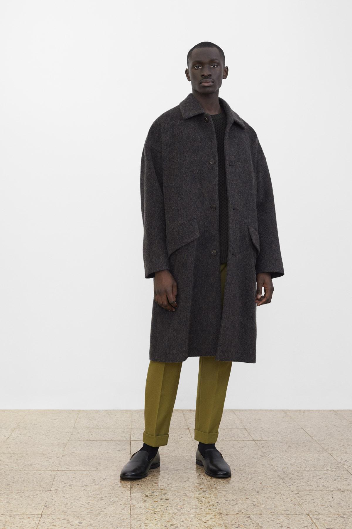 <b>5</b><br>Bob Melange Coat<br>Brown Cable Knit Vest<br>Richard Wool Pants