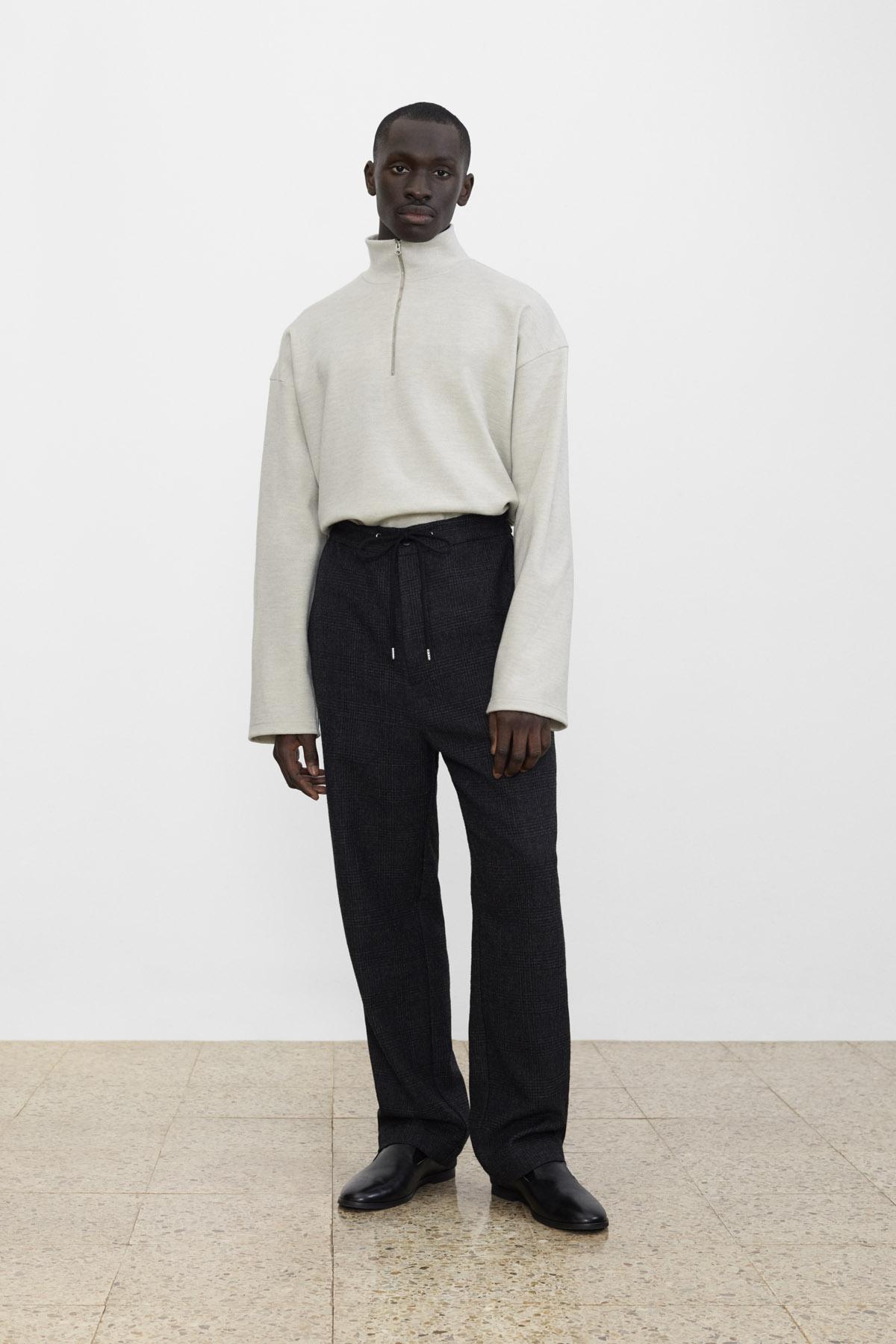 <b>8</b><br>Jasper Wool Jersey Top<br>Hakon Checked Wool Pants