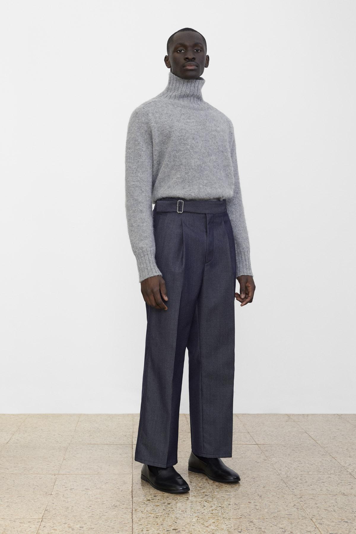 <b>3</b><br>Amber Wool Knit Top<br>Texas Wool Denim Pants