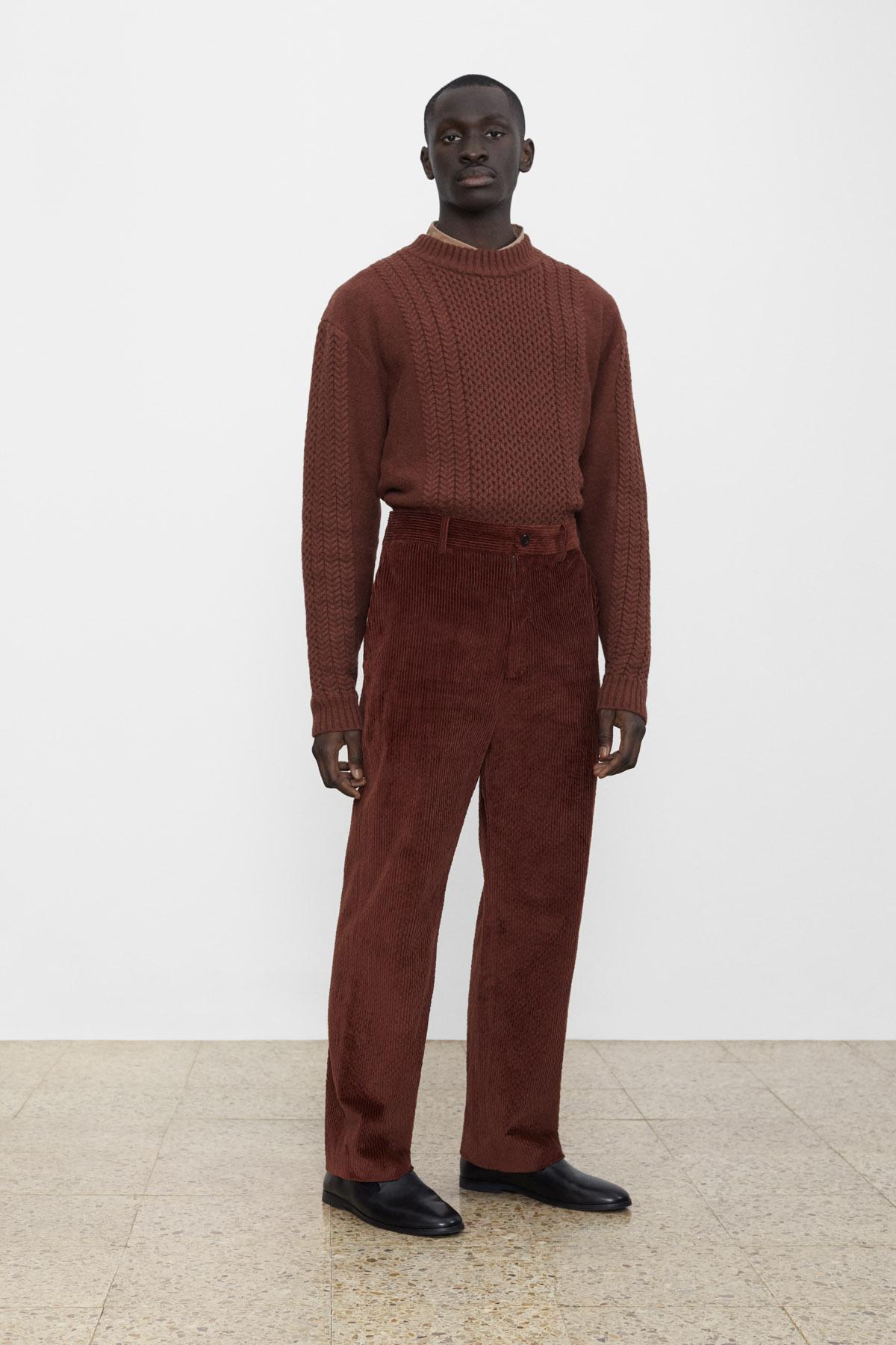 <b>9</b><br>Emery Cable Knit Top<br>Victor Poplin Shirt<br>Alexander Corduroy Pants