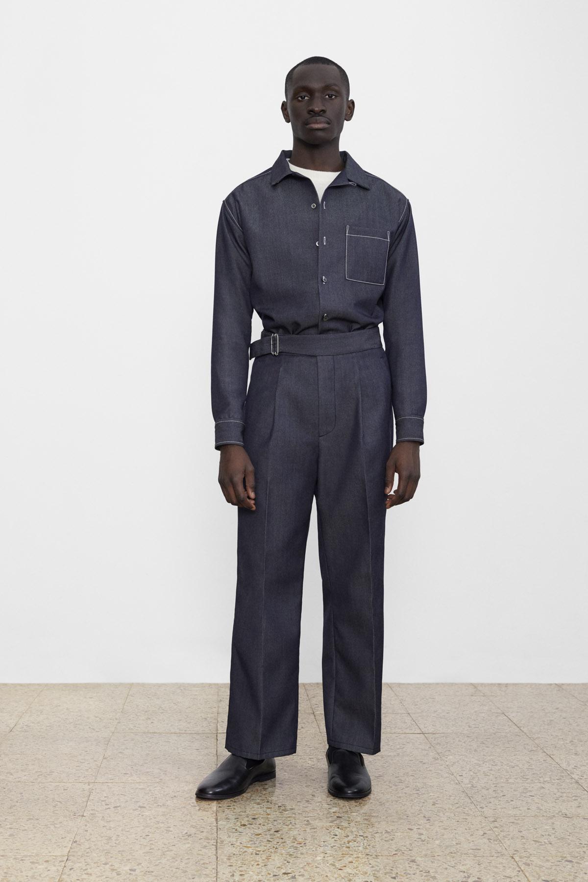 <b>2</b><br>Alfons Wool Denim Shirt<br>Gilbert Boiled Wool Top<br>Texas Wool Denim Pants