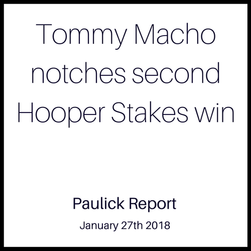 Tommy Macho notches second Hooper Stakes win