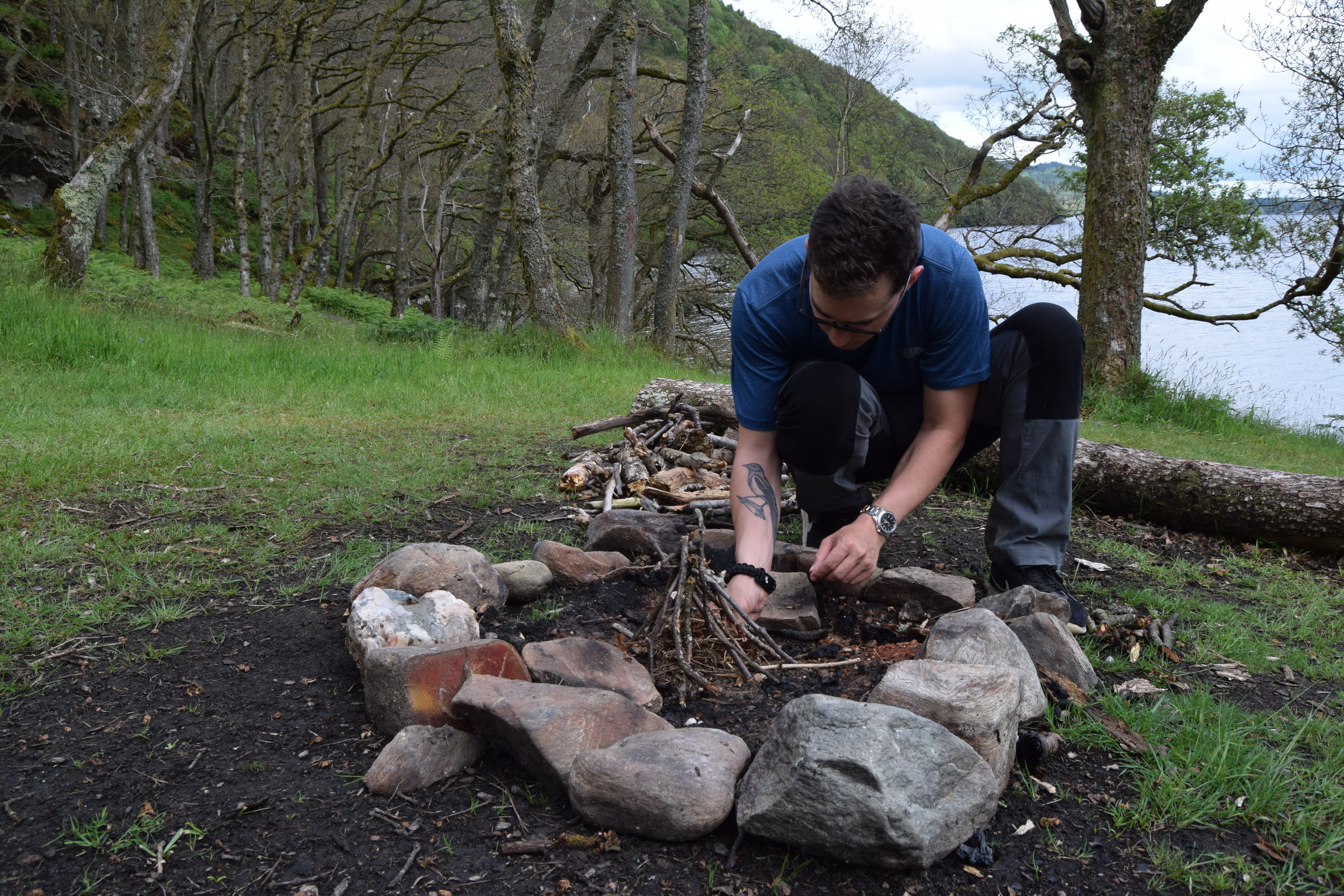 Evening entertainment on the West Highland Way