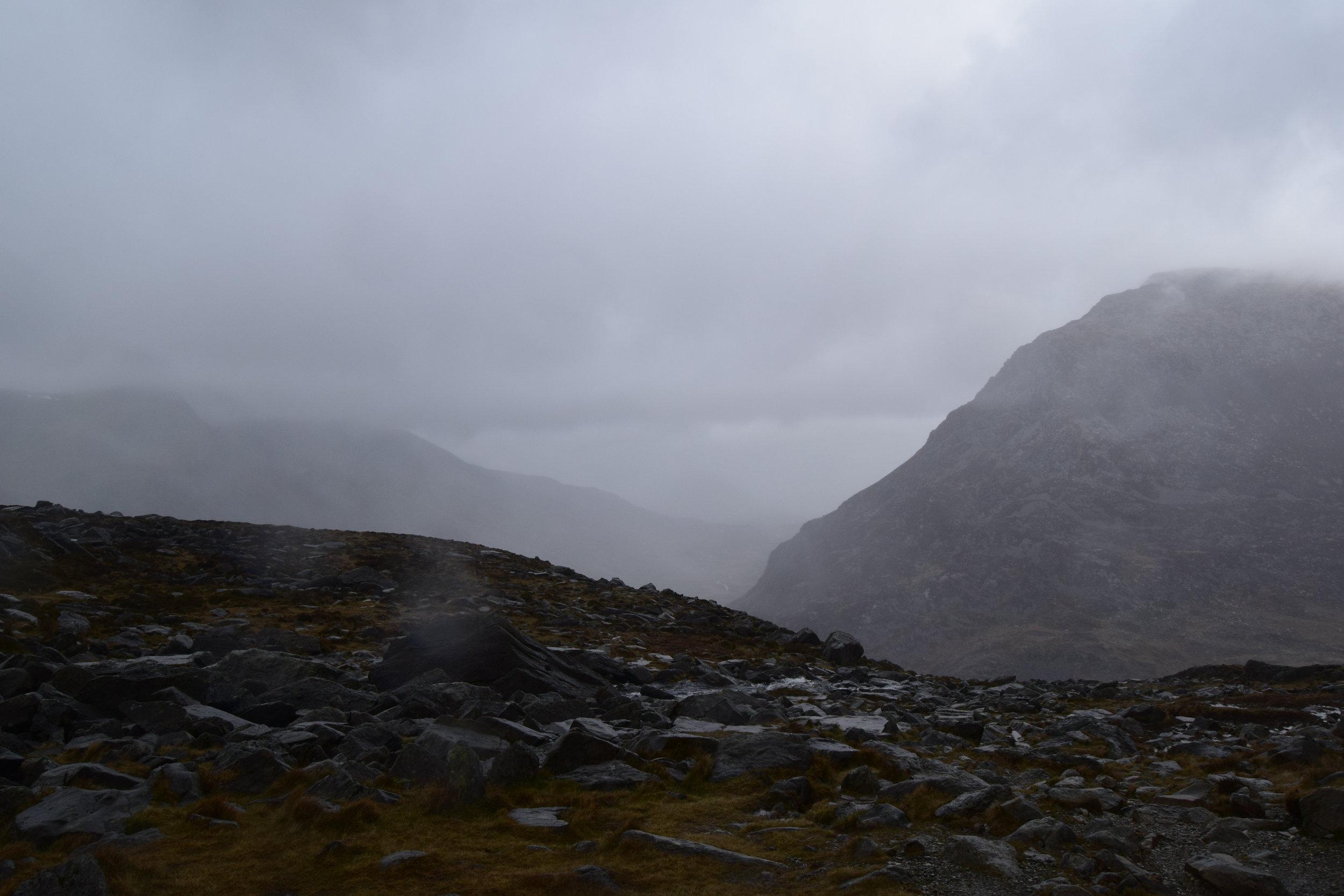 Our first trip to Llyn Bochlwyd was very wet!