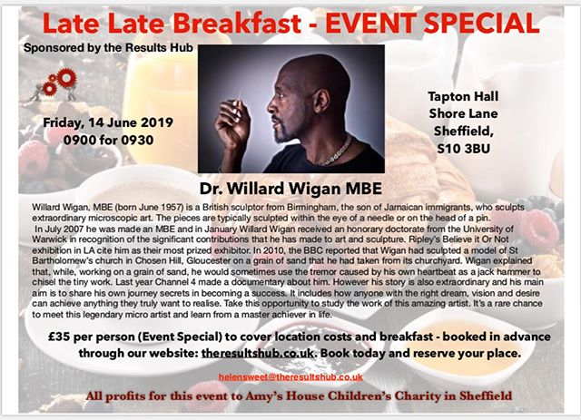 The late late breakfast is hosting a special even in aid of Amy's house, they have a special guest speaker too :)