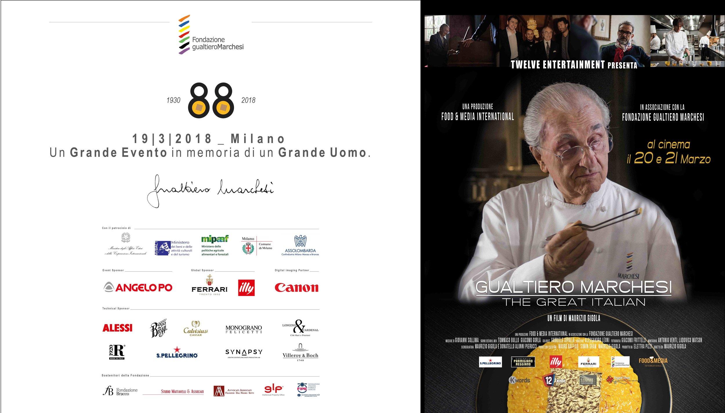 Fondazione Gualtiero Marchesi - pannello cinema