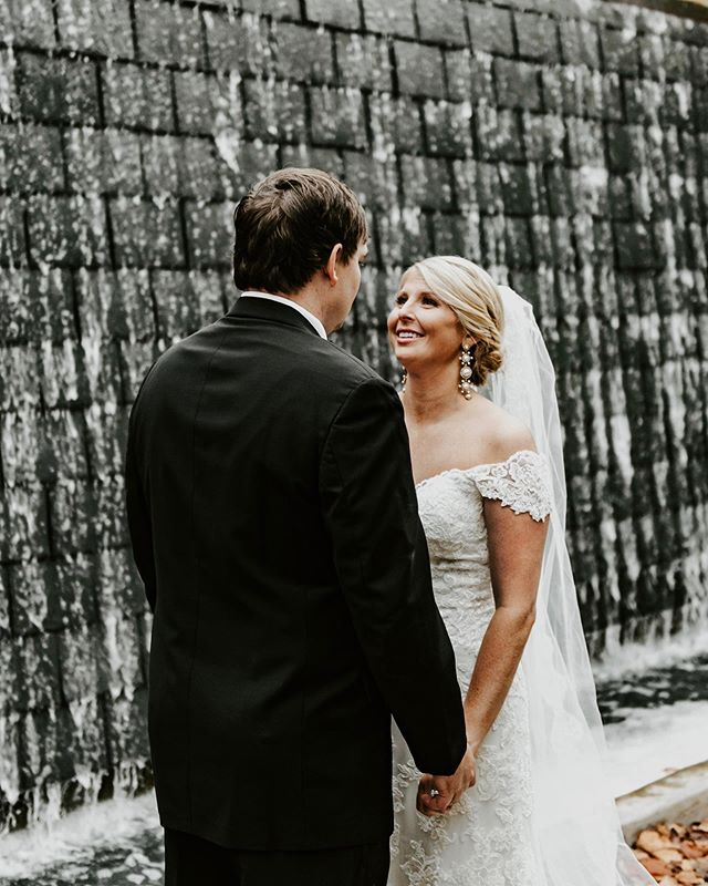This water wall at Winthrop University is such a beautiful photo spot. We only took pictures in front of it for a couple minutes max, but it instantly became my favorite spot there.  Shoutout to whoever designed it. You're definitely following me and will see this; I'm sure of it  Second shot with @sarahsekalyphotography