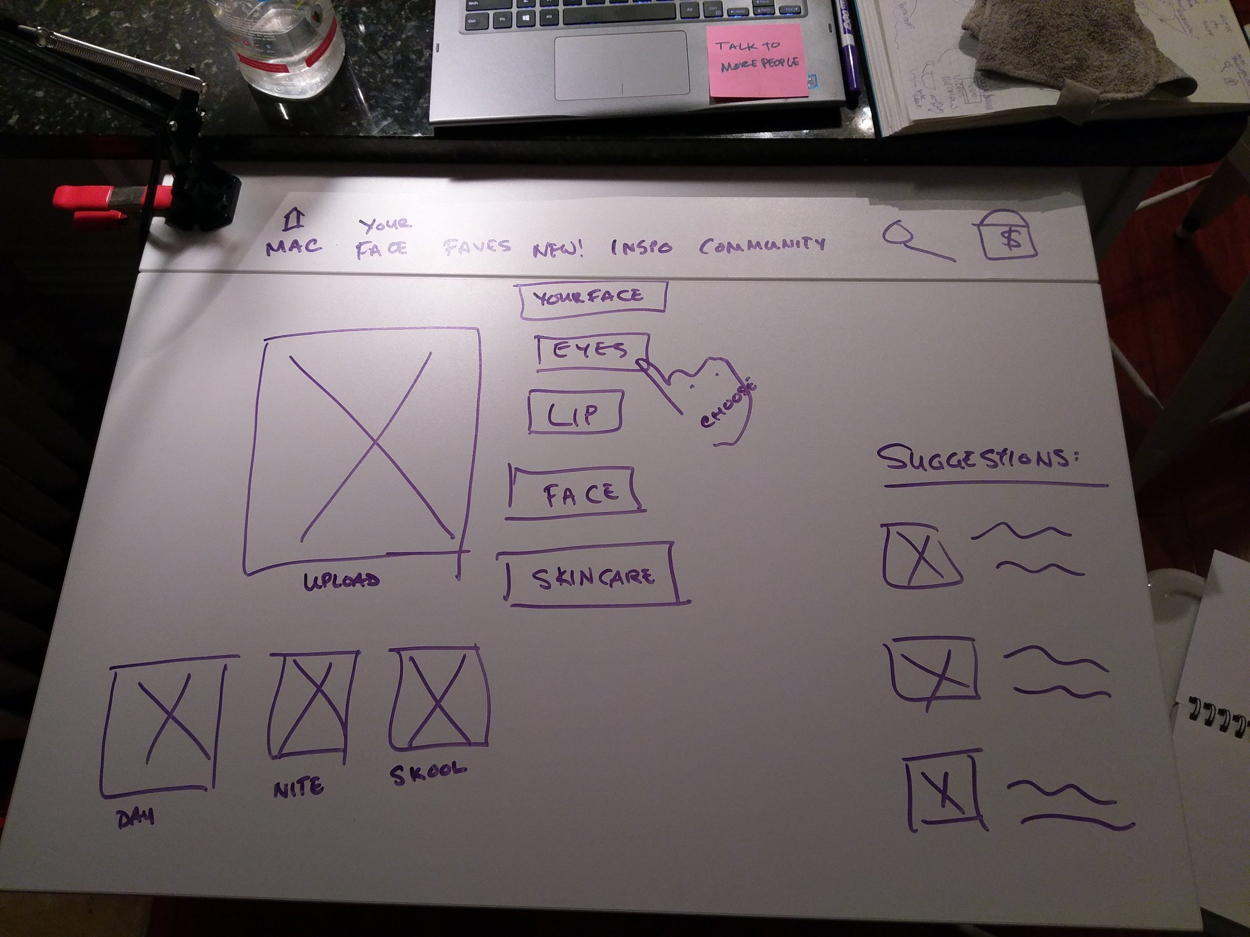 Deeper dive into the wireframe...