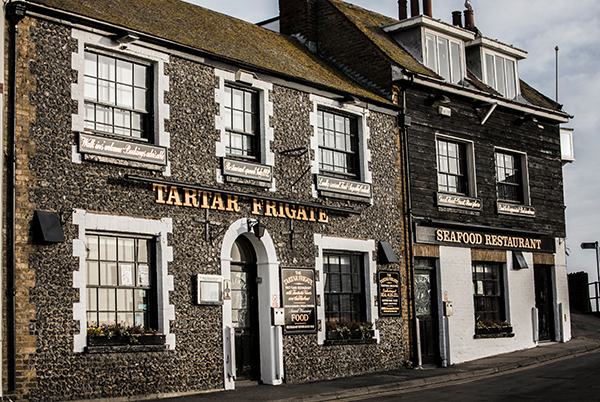 The Tartar Frigate - Traditional flint pub opposite Broadstairs harbour with fine dining seafood restaurant upstairs.Harbour Street, Broadstairs CT10 1EUTel: 01843 601 636tartarfrigate@thorleytaverns.co.ukwww.tartarfrigate.co.ukFood Served | Cask Ales | Live Music