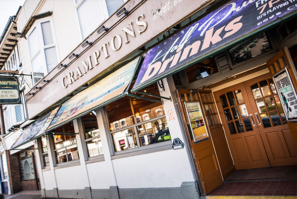 Cramptons - A lively party venue with excellent beer garden opposite Broadstairs train station.With a great lunch time menu.139 High Street, Broadstairs CT10 1NGTel: 01843 860 428cramptons@thorleytaverns.co.ukwww.cramptonsbroadstairs.co.ukFood Served | Live Sport | Live DJs | Wheelchair Access