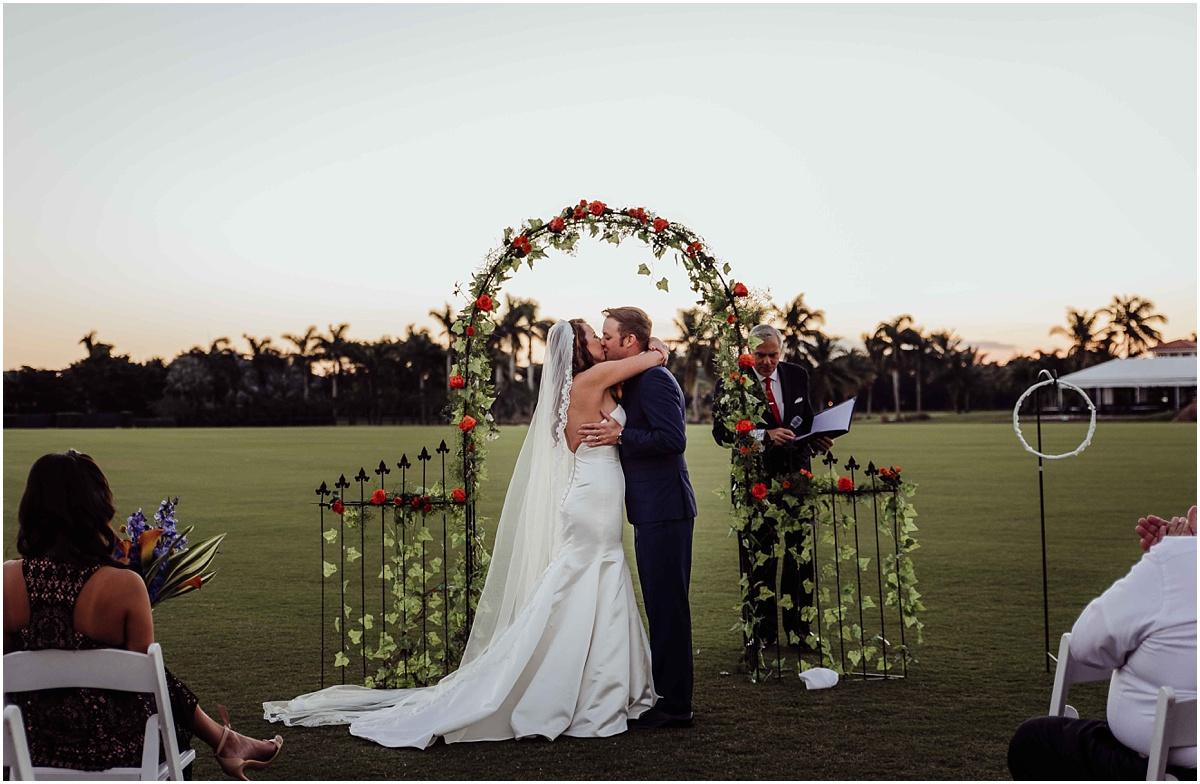 First Kiss Bride Groom Wellington Wedding