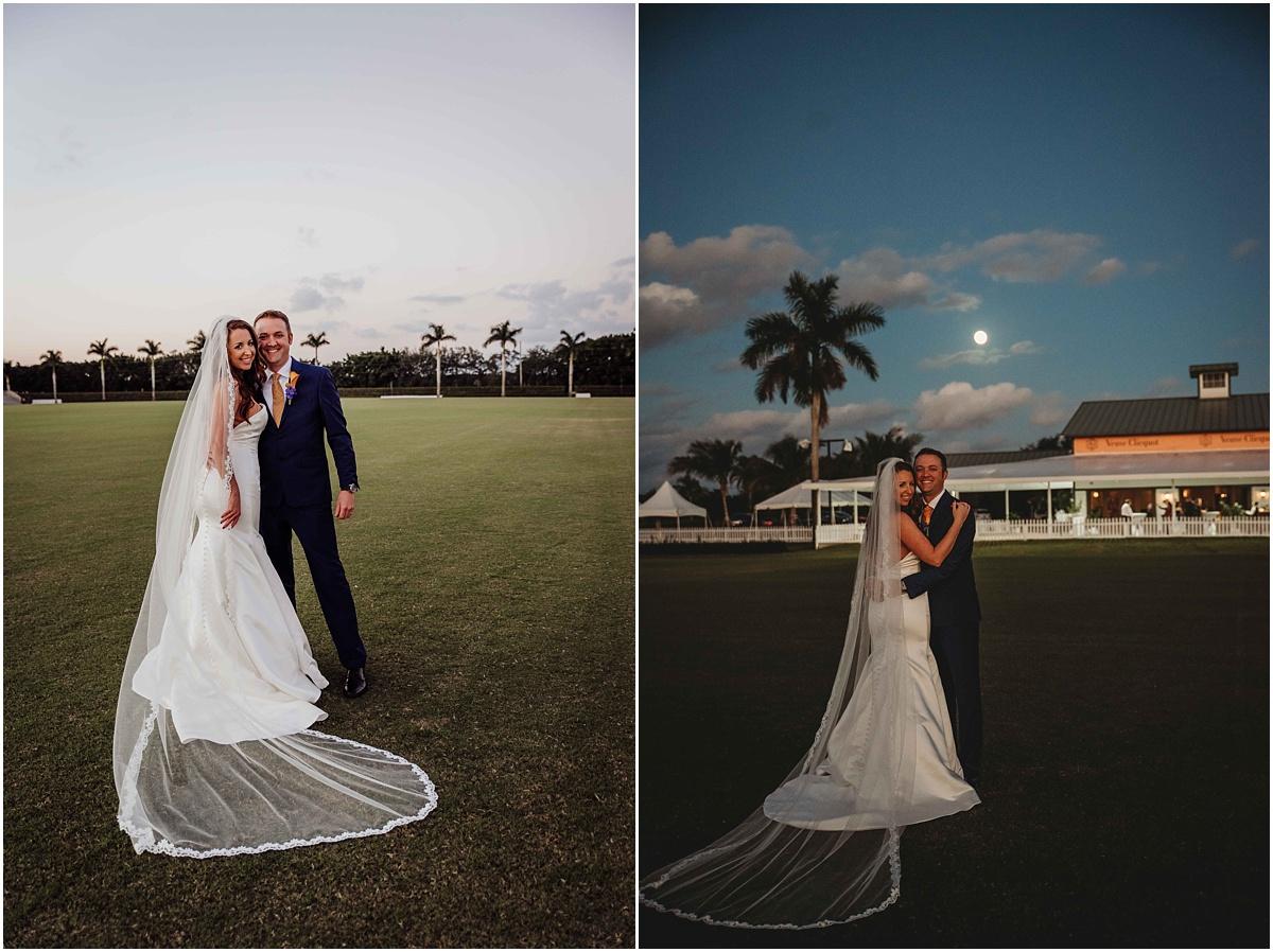 international polo club bride groom moon photography
