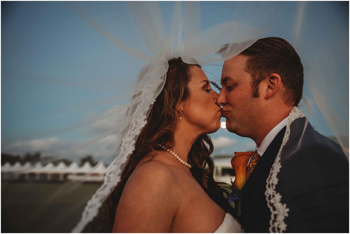 bride groom kiss international polo club palm beach wellington