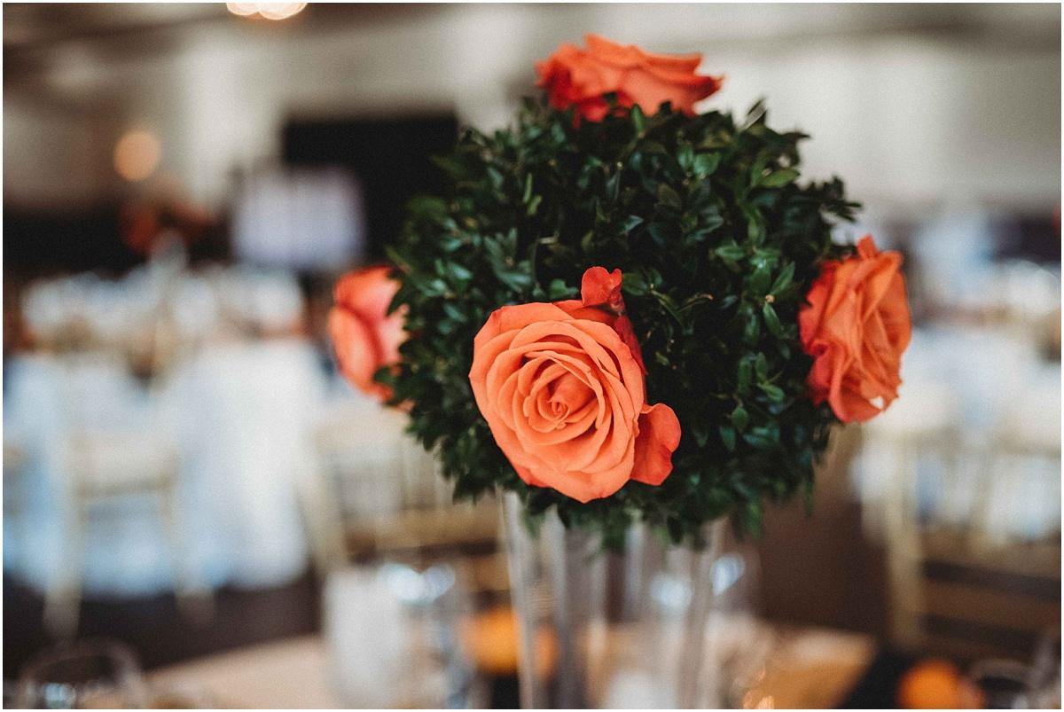international polo club wedding table flowers centerpieces