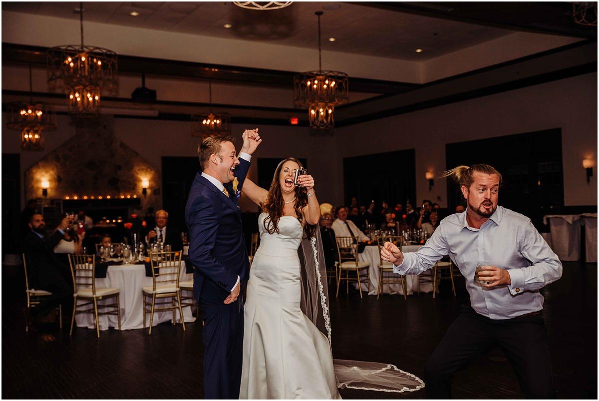 international polo club palm beach wedding reception flask bride groom guest