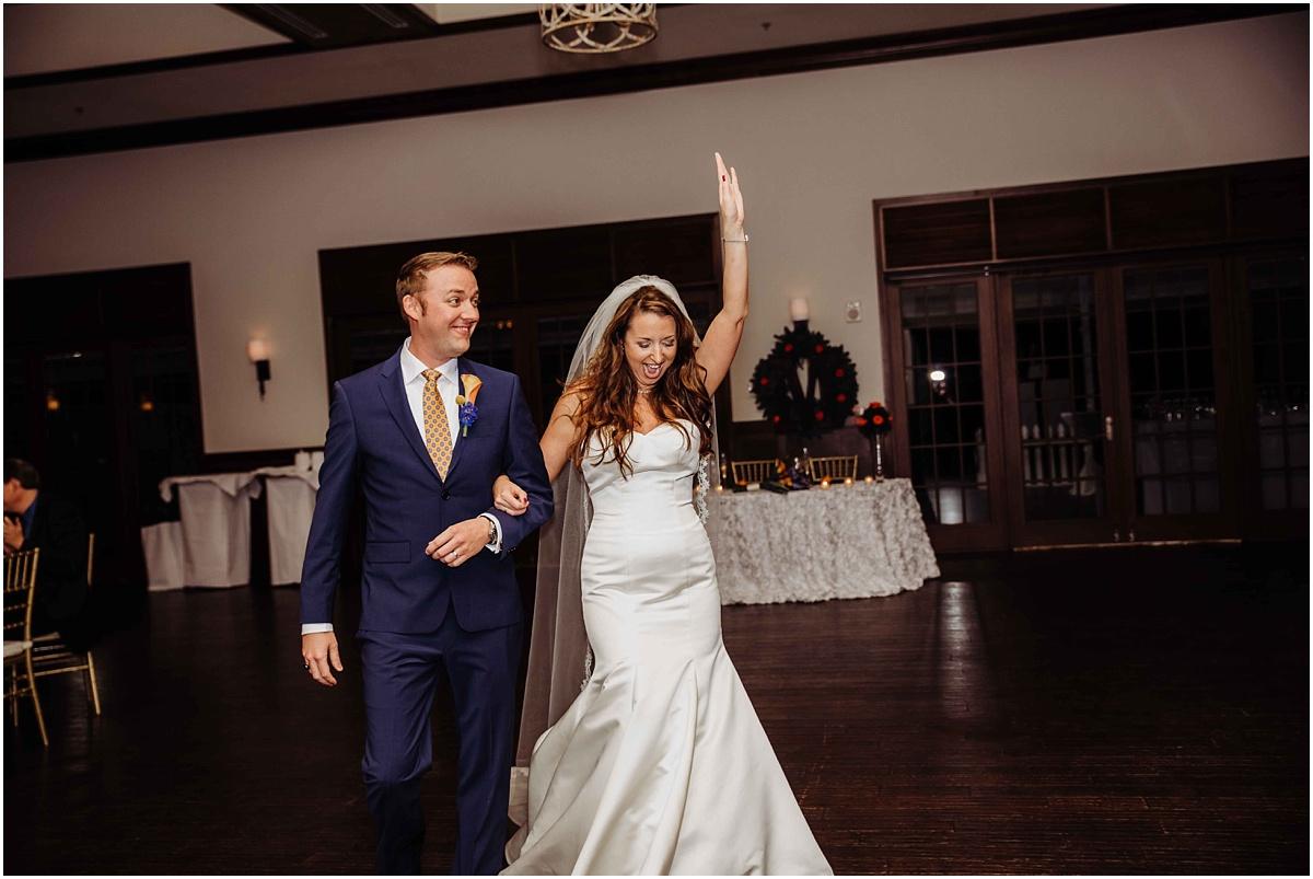 international polo club bride groom reception entrance photography