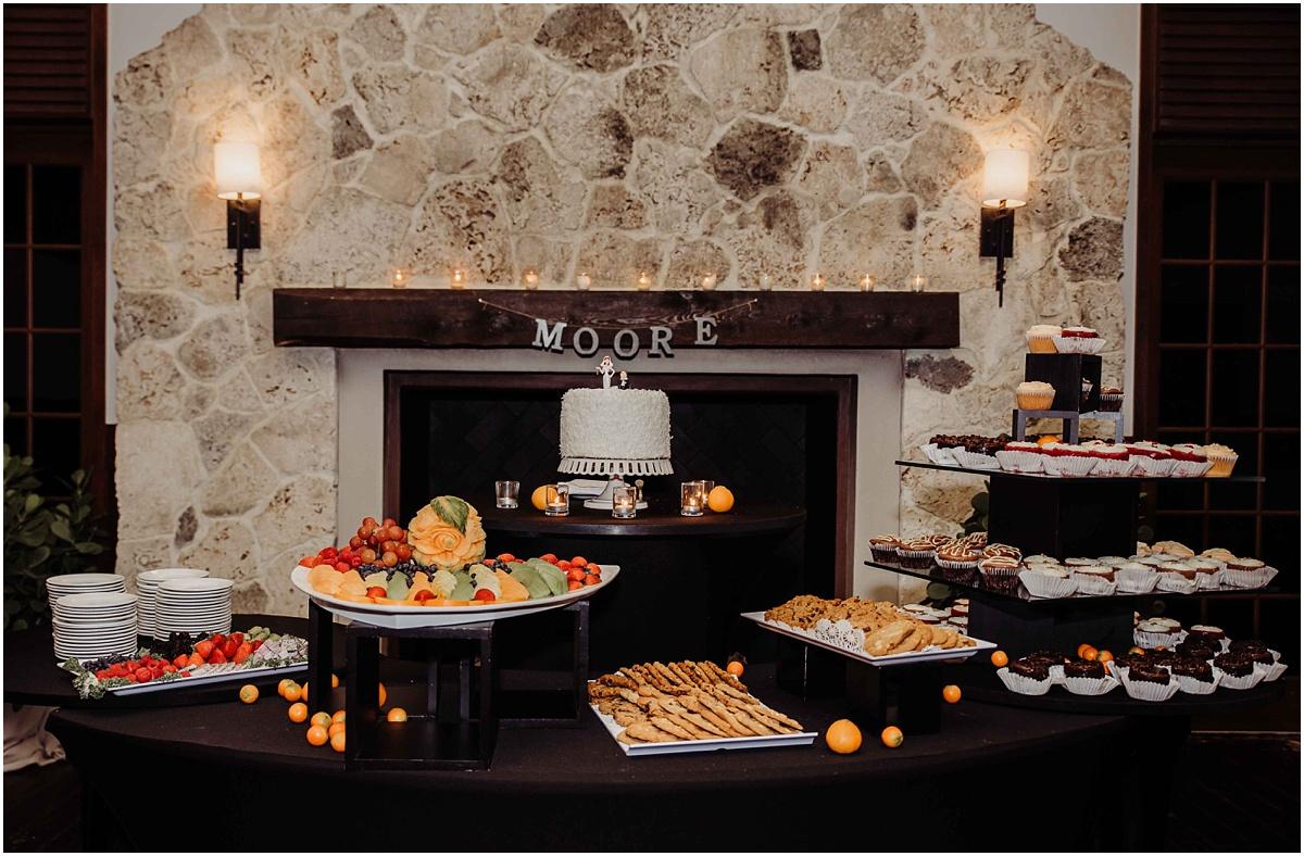 international polo club reception dessert table photography