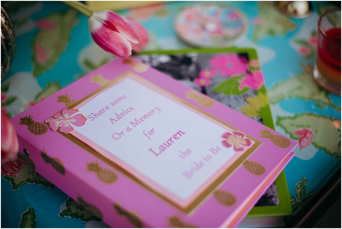 Lilly pulitzer Bridal shower signing book