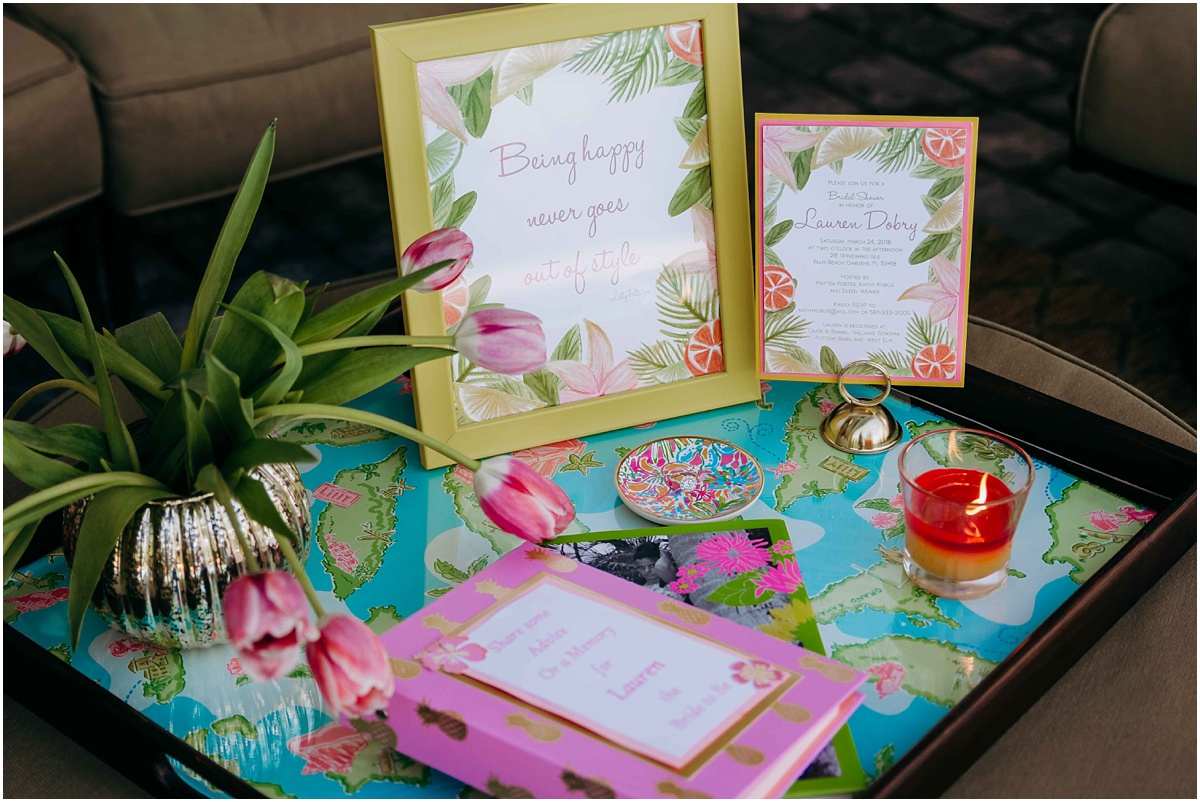 Lilly Pulitzer Bridal Shower decor table