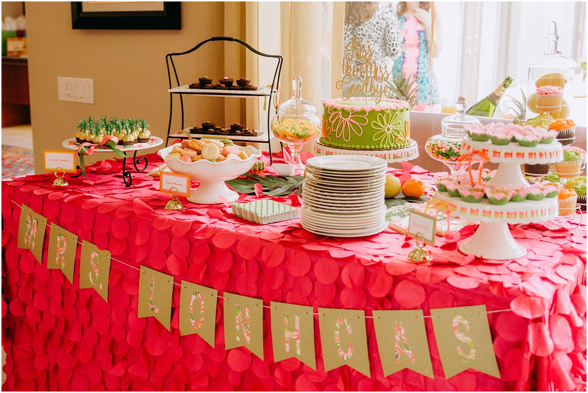 Lilly Pulitzer Bridal Shower Dessert Table