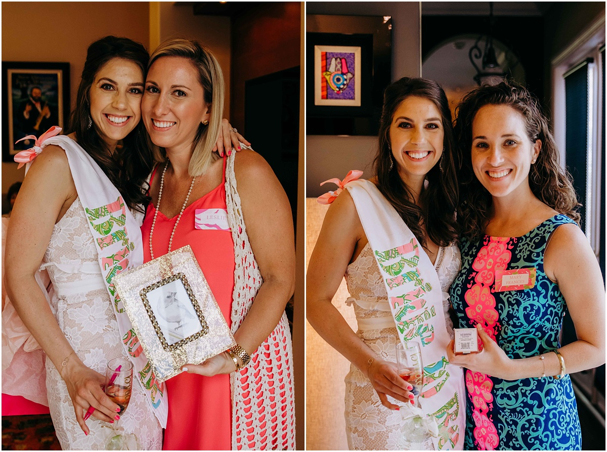 Lilly Pulitzer Bride with gift winners