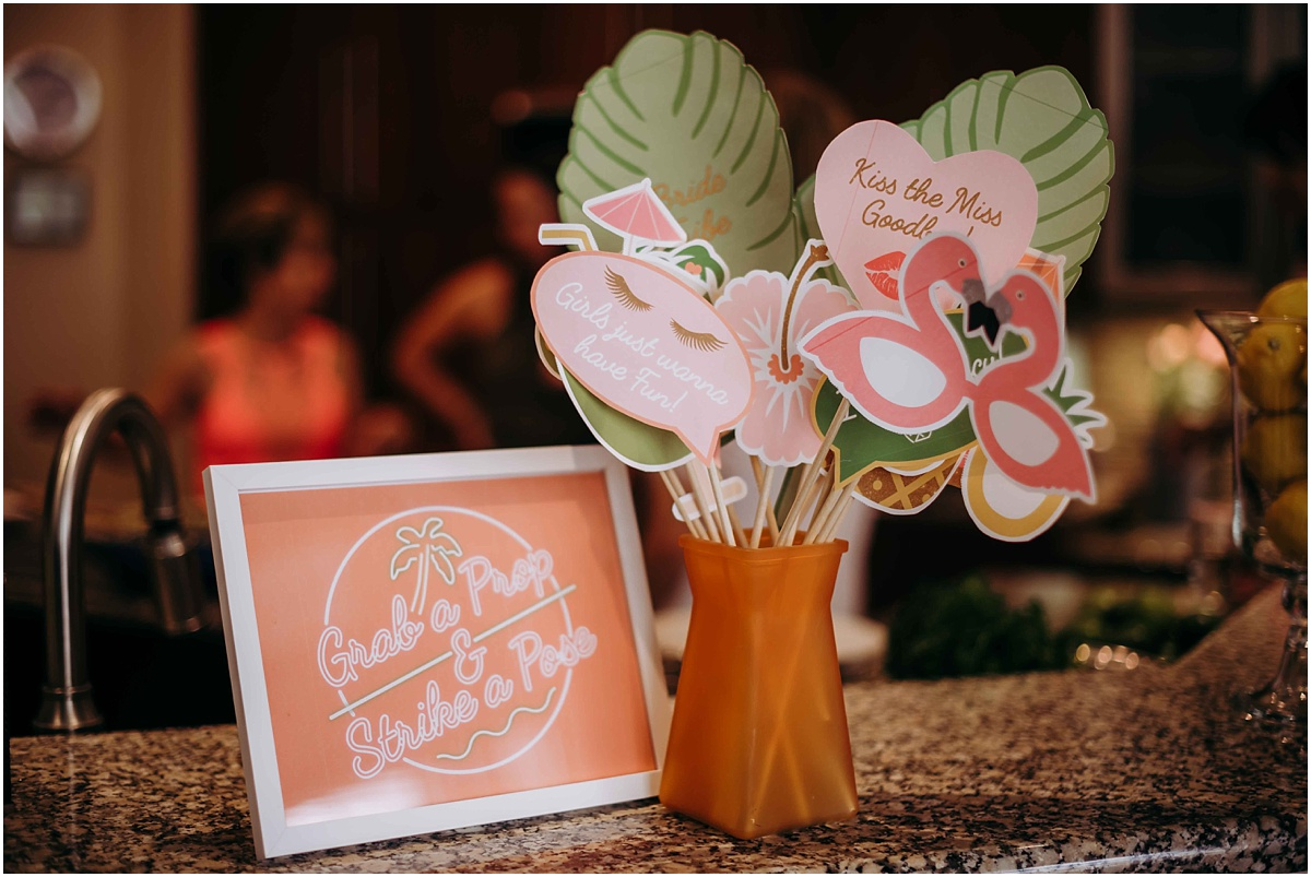 Lilly Pulitzer Bridal Shower Photo Props