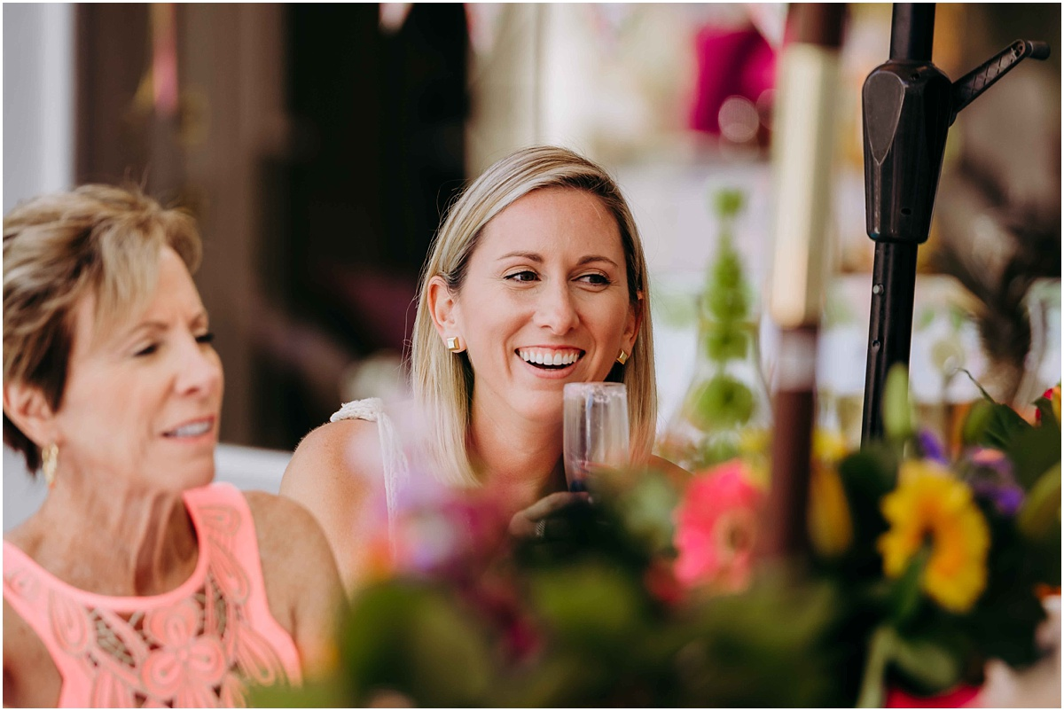 Bridal Shower guest laughing