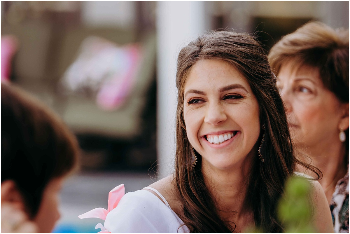 Lilly Pulitzer Bridal Shower Bride laughing