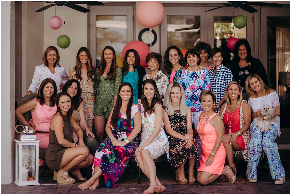 Lilly Pulitzer Bridal Shower Guests smiling